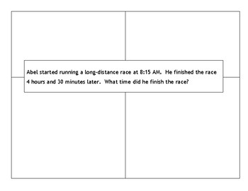 Time Word Problems 4th Grade