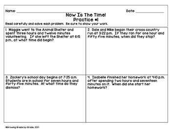 Telling Time Worksheets Now Is The Time