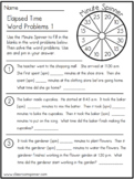 Time - Word Problems - Set 1 - Math Classroom Pencil Spinn