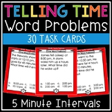 Time Word Problems Task Cards (Determining Beginning, Elapsed & Ending Times)