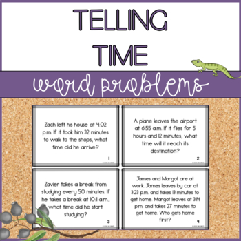 Time Word Problems Task Cards