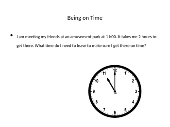 Time Word Problems- What Time Should You Leave? Powerpoint