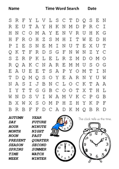Time Word Search
