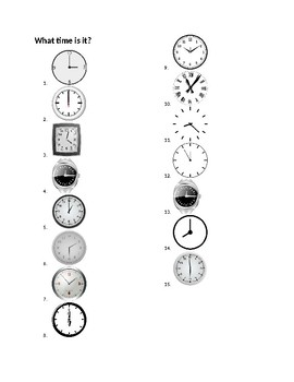 Time Worksheet 4