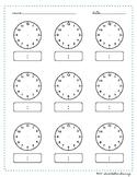 Time Worksheet Blank Clock Montessori Printable