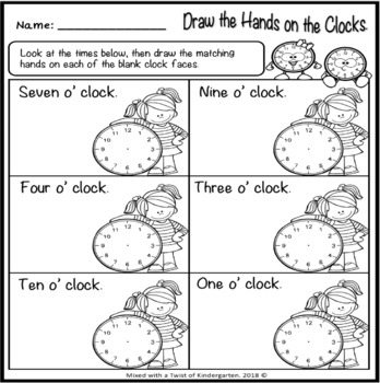 time worksheets  kindergarten by mixed with a twist of kindergarten time worksheets  kindergarten