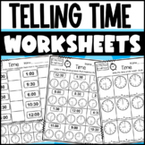 Time Worksheets: To the Hour and Half Hour
