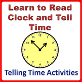 Telling Time Worksheets and Clock Printable Activities Grade K-4