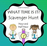 Time: Wrist Watch Scavenger Hunt - Hour and Half Hour activities and worksheets