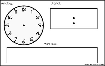 Time Write and Draw: Digital and Analog, Elapsed Time
