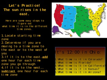 Time Zone Earth Rotation PowerPoint Lesson Activities