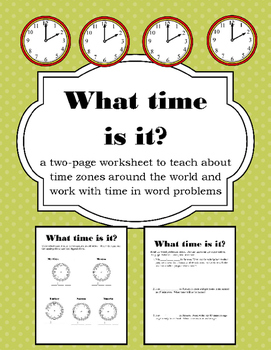 time zone time word problem worksheets by naptime creations tpt. Black Bedroom Furniture Sets. Home Design Ideas