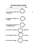 Time Zone Worksheet