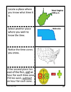 """Time Zones """"Foldable"""""""