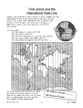 Time Zones and the International Date Line