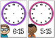 Time activities and worksheets - Time to the quarter hour