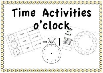 Time activities - o'clock