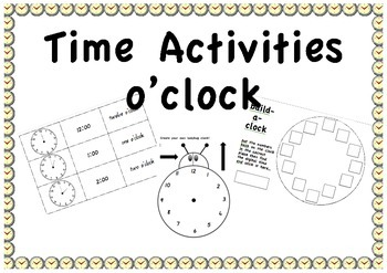 Time activities - o'clock