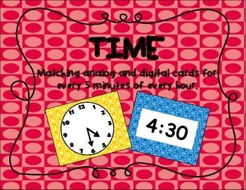 Time (analog and digital) Task cards