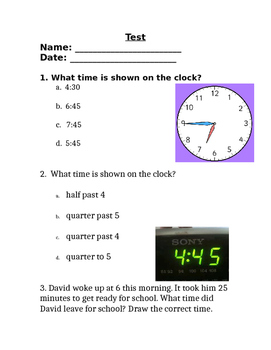 Time and 3 Digit Addition and Subtraction