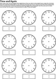 Time and Again - practice drawing & writing times (hour/ha