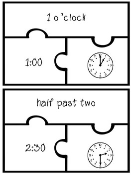 Time and Calendar Matching Games