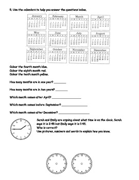 Time and Calendar Test