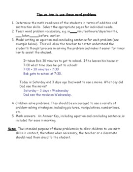 Time and Calendar Word Problems