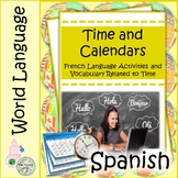 Time and Calendars in Spanish: A Foreign Language Vocab Project on Time & Dates