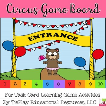 Time and Circus Math Learning Game Board