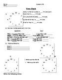 Time - Basic Time and Clock Worksheet