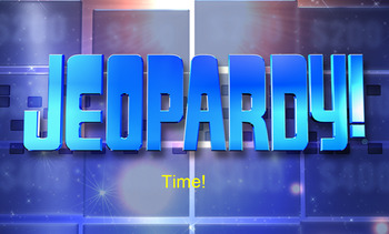 Time and Elapsed Time Jeopardy game- editable
