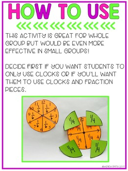 Time and Fractions FREEBIE