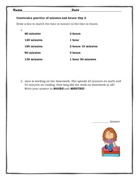 Converting Assessment and 5 Days of Conversions Worksheets