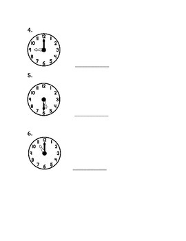 Time and Measurement Quiz or Review