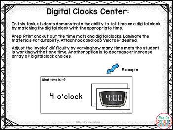 Time and Measurement Unit (Special Education Math Unit)