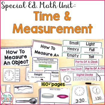 Time and Measurement Math Unit for Special Education (Differentiated & Hands On)