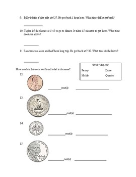 Time and Money Assessment