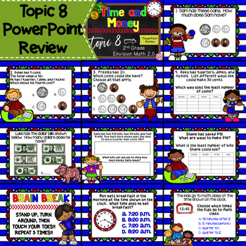 Envision Math 2.0 2nd Grade Topic 8 Review