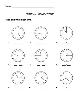 Time and Money TEST
