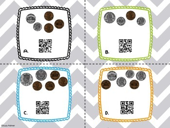 Time and Money Task Cards with QR Codes {BUNDLE} 2nd Gr. CCSS aligned