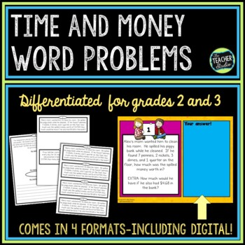 Time and Money Word Problem Collection: Grade 2-3
