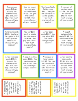Time and Money Word Problems Game