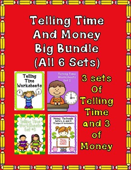 Time and Money the Bundle:  6 Sets included Save 50%