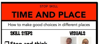 Time and Place Social Skill Steps Poster - The Empower Program K-2