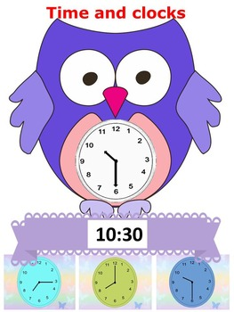 Owl - Time and clocks - Back to School Activity - PowerPoint presentation