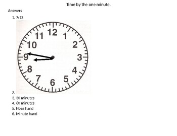 Time by the 1 minute and A.M./P.M.