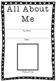 First day/first week back to school - Time capsule booklet