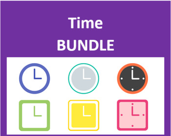 Heure, Date, Temps (Time, Date, Weather in French) Bundle