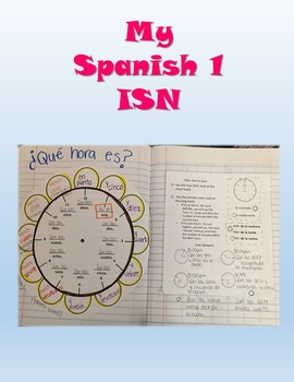 Flower Clock,time notes and practice- Spanish